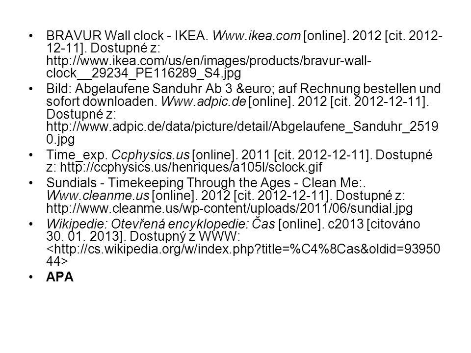 BRAVUR Wall clock - IKEA. Www. ikea. com [online]. 2012 [cit